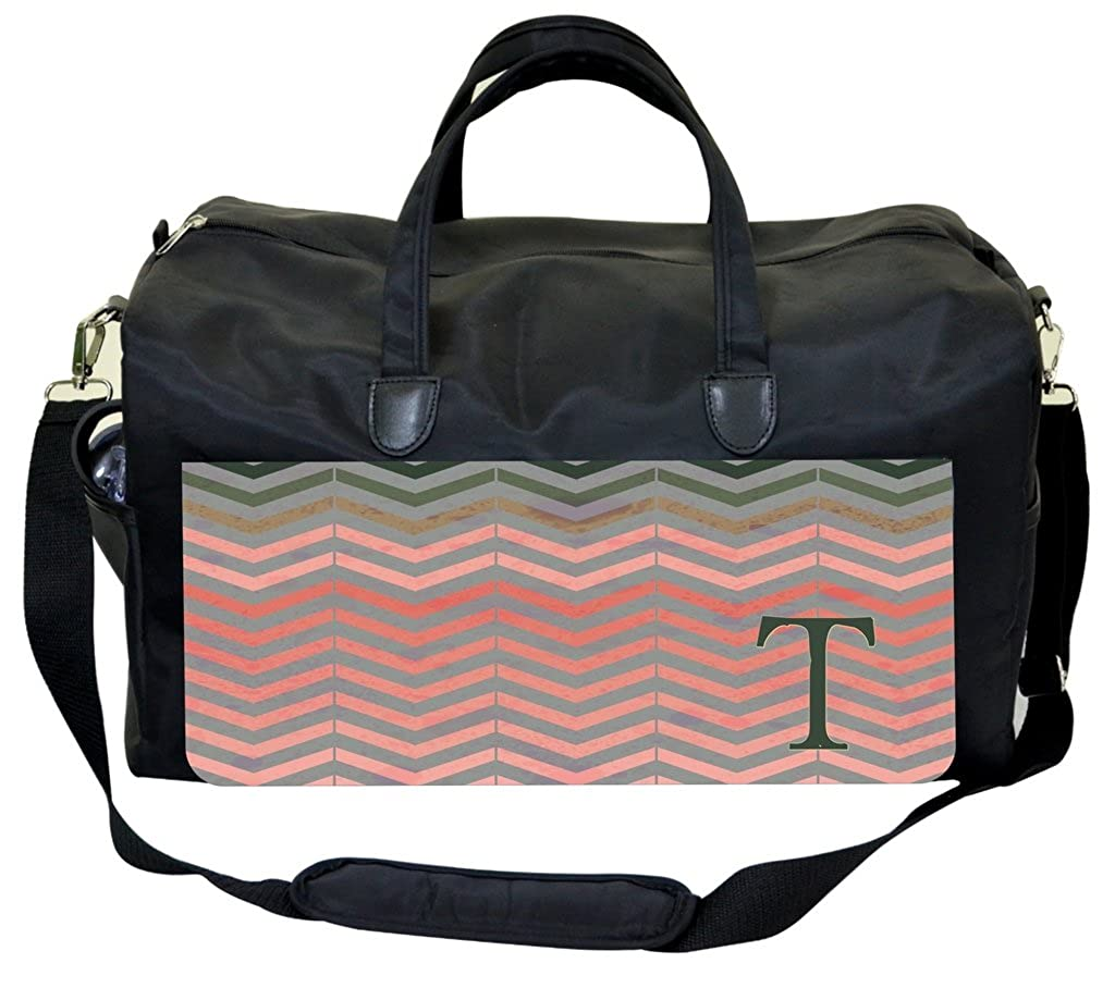 Pink Toned Grungy Chevrons Personalization Custom Gym Bag