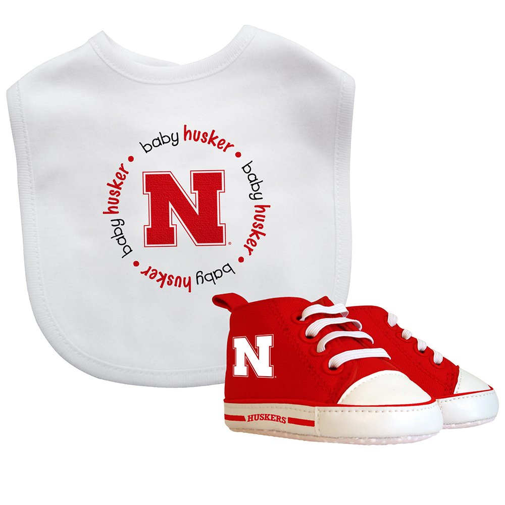 Baby Fanatic Bib with Pre-Walkers University of Nebraska