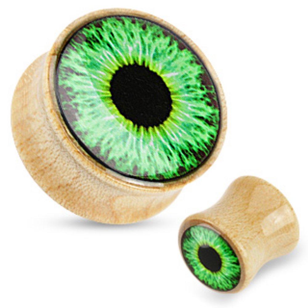 Green Eyeball Maple Wood Saddle Freedom Fashion Plug