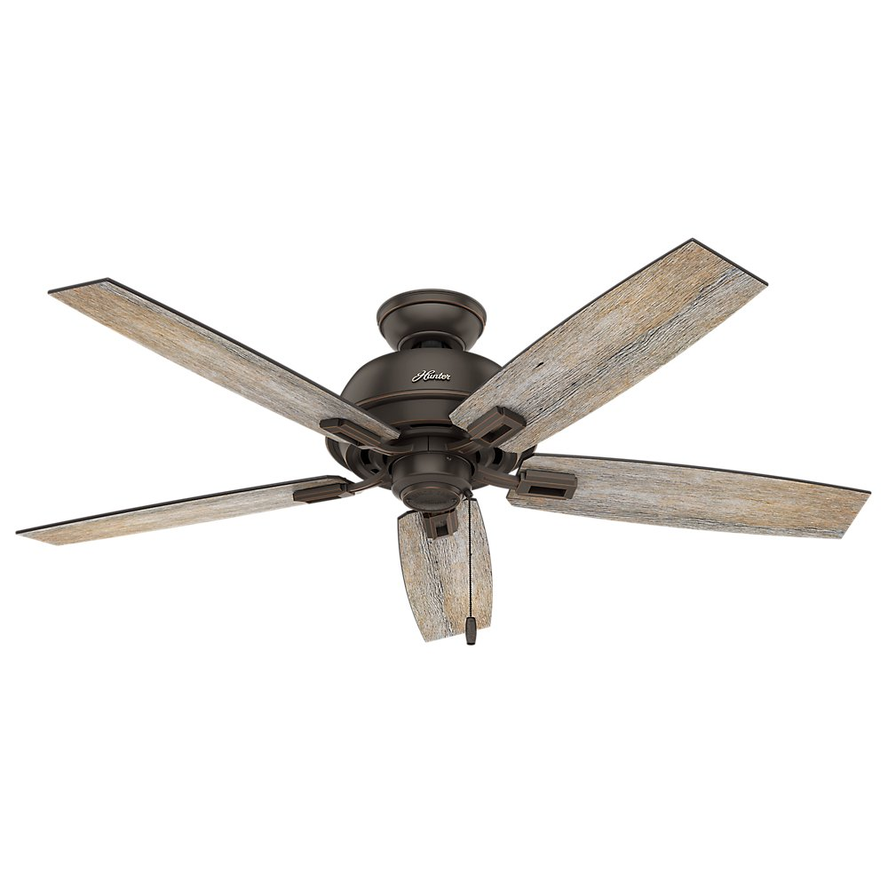 Hunter Fan Company 53336 Hunter 52 Donegan Onyx Bengal Ceiling Fan with Light White
