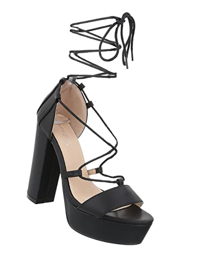 Schuhcity24 Damen High Heels  Sandaletten Leder-Optik ... cdd6432c4b
