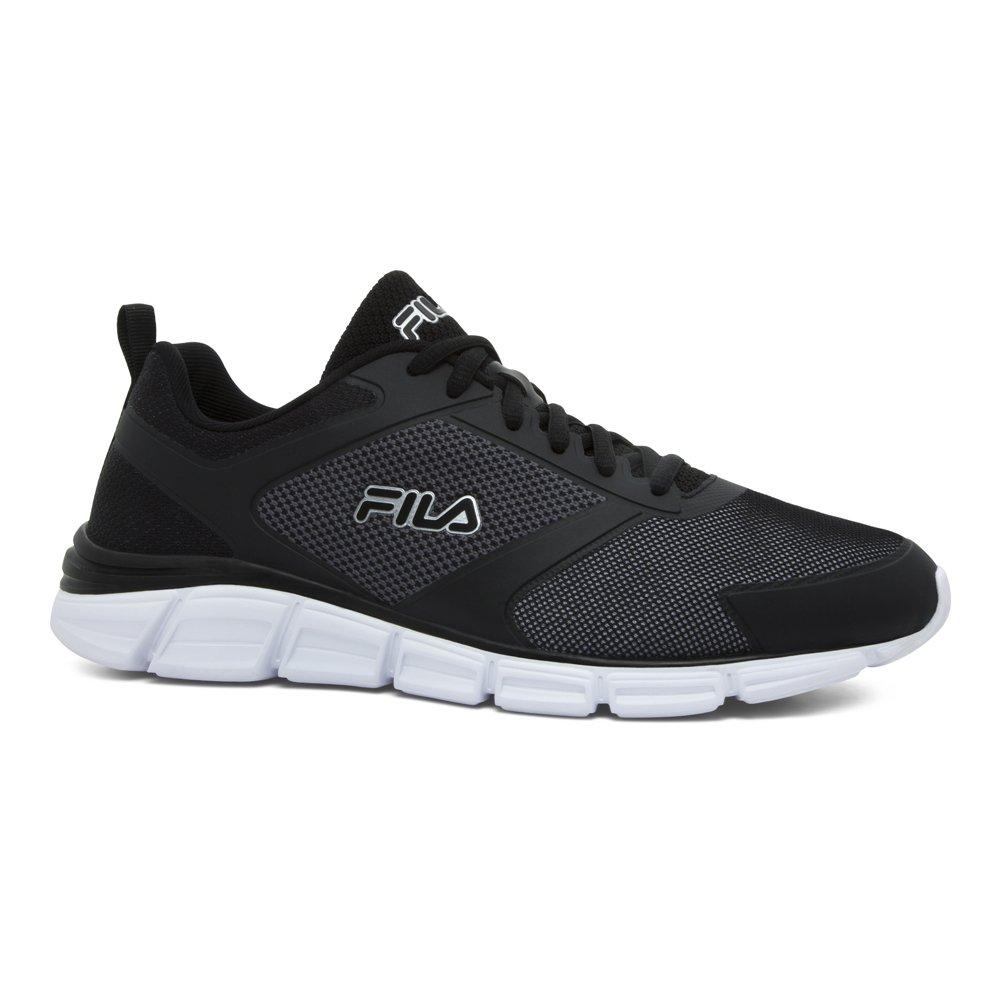 Fila Men's Memory Windstar Evo Running Shoe B072F2HJKP 9 D(M) US|Black/Metallic Silver/White