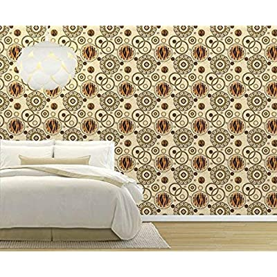 Large Wall Mural Seamless Tiger Skin Pattern Vinyl Wallpaper Removable Decorating, Premium Product, Fascinating Style