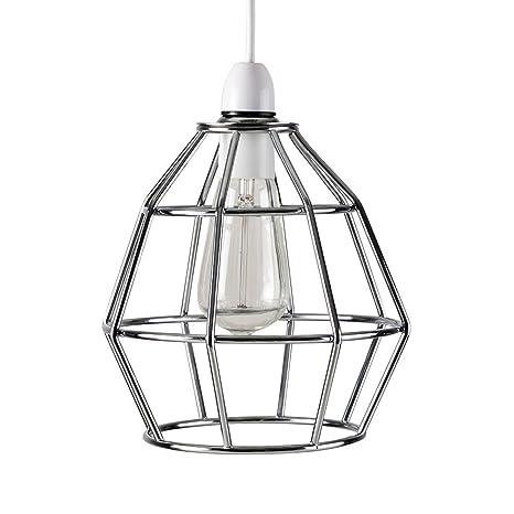 MiniSun – Contemporánea pantalla para lámpara de techo - cesta de acabado en cobre vintage de estilo Nueva York