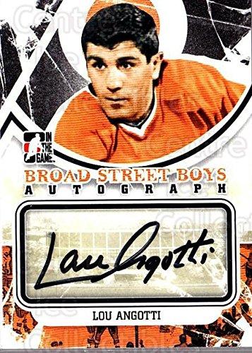(CI) Lou Angotti Hockey Card 2011-12 ITG Broad Street Boys Autographs ALA Lou - Kids Ala