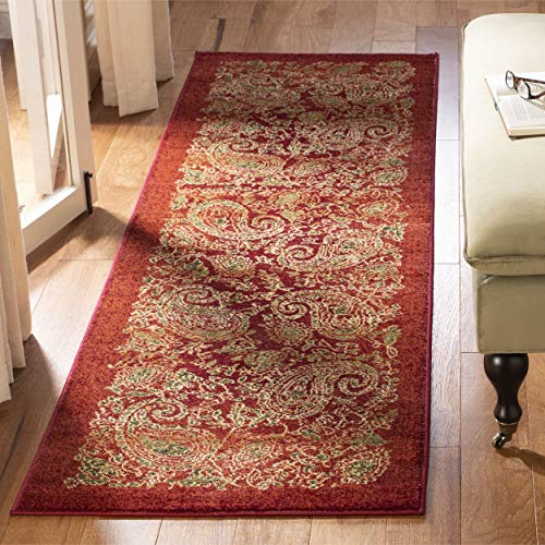 Safavieh Lyndhurst Collection LNH224B Traditional Paisley Red and Multi Runner (2'3