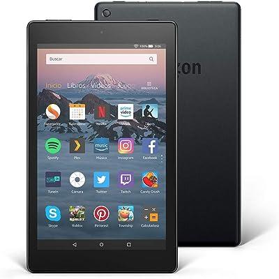 Tablet Fire HD 8   Pantalla HD de 8 pulgadas, 16 GB, negro, sin ofertas especiales (8ª generación - modelo de 2018)