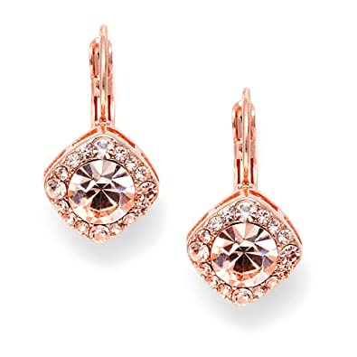 Amazoncom Mariell Tailored Solitaire Drop Earrings with Brilliant