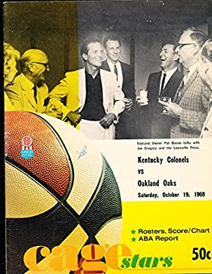 1968 10/19 Kentucky Colonels vs Oaks Signed Basketball program entire team 12 sigs