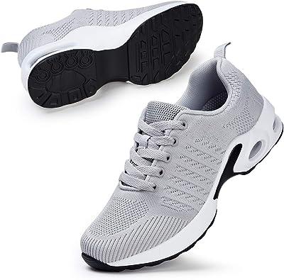STQ Zapatillas de running para mujer, color Gris, talla 38.5 EU: Amazon.es: Zapatos y complementos