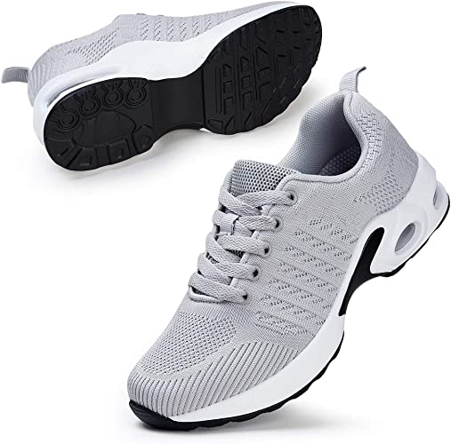 STQ Zapatillas de running para mujer, color Gris, talla 38 EU ...