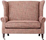 Haven Settee, 42″Hx48″Wx36″D, MULTI HERRINGBONE WITH BROWN PIPINGX Review