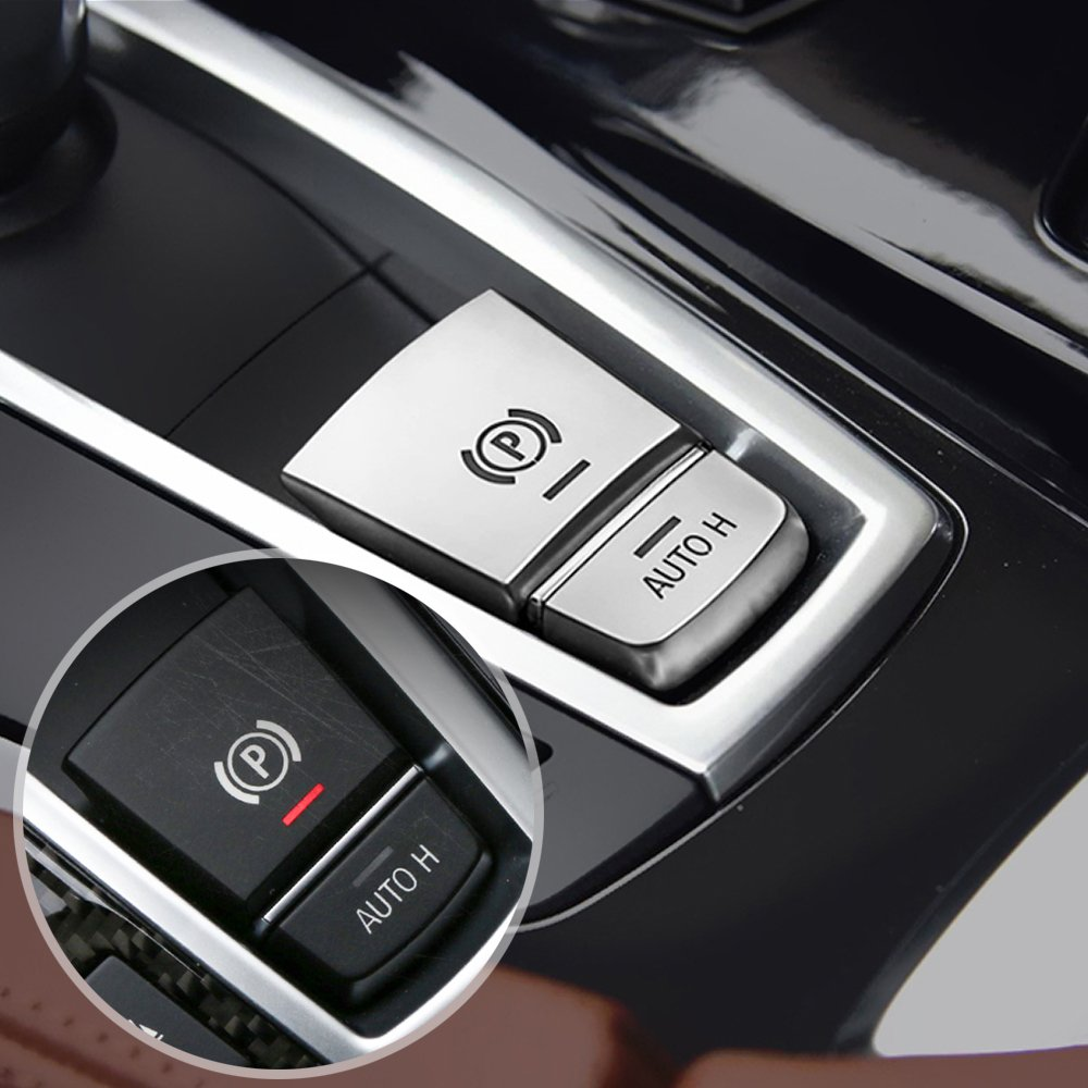 ABS Chrom Parkbremse Schalter P Button Abdeckung