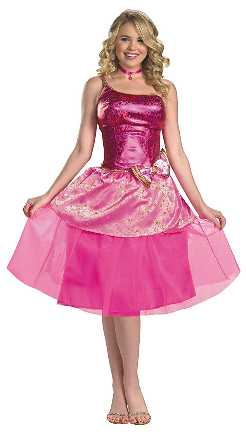 Amazon.com: Women\'s Deluxe Barbie\'s Princess Charm School Costume by ...
