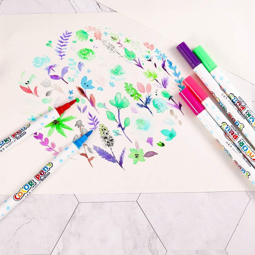 arte y escribir bocetos creaci/ón Didatecar graffiti Bol/ígrafo de ne/ón de doble cara apto para pizarra LED luminosa rotulador de ne/ón es adecuado para pintura