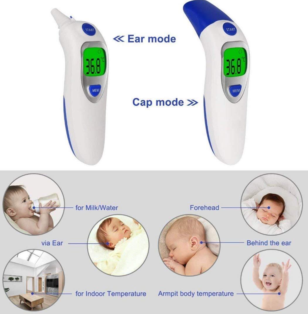 geeignet f/ür Babys hohe Genauigkeit Echtzeit-Anzeige Kinder und Erwachsener Baby Fieberthermometer Infrarot Ohrthermometer,Multifunktion Digitaler Stirnthermometer Medizinischer Thermometer