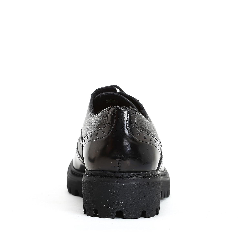MARINA SEVAL by Scarpe&Scarpe - Chaussures à Lacets avec Queue D'Aronde Brillante, en Cuir, à Talons 3 CM - 38,0, Noir