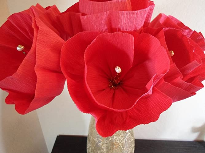 Amazon Mexican Flowers Set Of 6 Mexican Crepe Red Paper