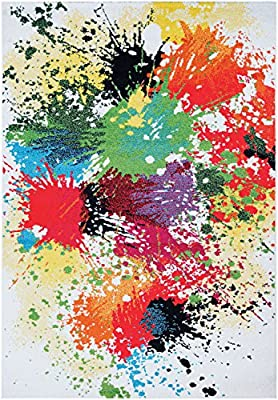 "Couristan Spectrum Modern Art Area Rug, 3'11"" x 5'7"", Beige/Multicolor"