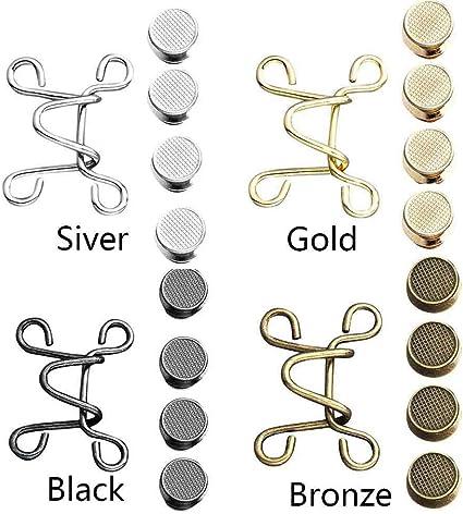Bronze QLADY 6 Set Nagelfreie Taillenschnalle verstellbare Taillenknopf Shrink Extender Jeans Schnalle zum /Ändern der Hosenbundgr/ö/ße
