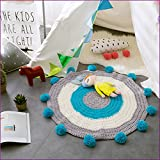 Green Color Handmade Nordic Carpets Carpet Kids' Room Game Pad Coffee Table Area Rug Children Play Floor Mat Cute