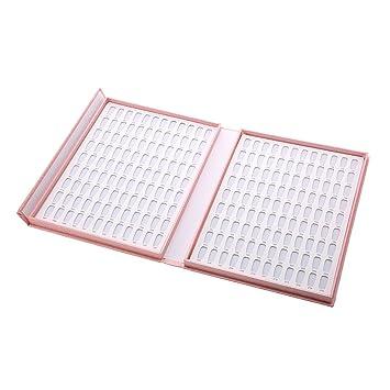 444db814b8 Amazon.com : Professional 216/120 Colors Pink Nail Gel Polish Display Chart  with Tips Nail Polish Color Card Chart Nail Art Salon Set : Beauty