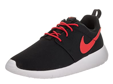 4c49de59f85832 Nike Youth Roshe One (Black Max Orange)(5 M US Big Kid