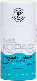 product image for Kopari Aluminum Free Mens Charcoal Coconut Deodorant Stick | Made with Organic Coconut Oil | Non Toxic, Paraben Free, Plant Based, Gluten Free & Cruelty Free Long Lasting Natural Deodorant | 2.0 oz