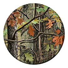 Creative Converting 8 Count Paper Dessert Plates, Hunting Camo