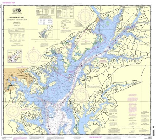NOAA Chart 12273: Chesapeake Bay Sandy Point to Susquehanna River Review