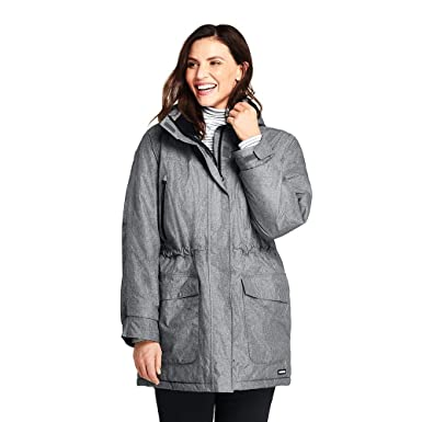 b016cab570 Lands  End Women s Plus Size Heathered Squall Insulated Winter Parka ...