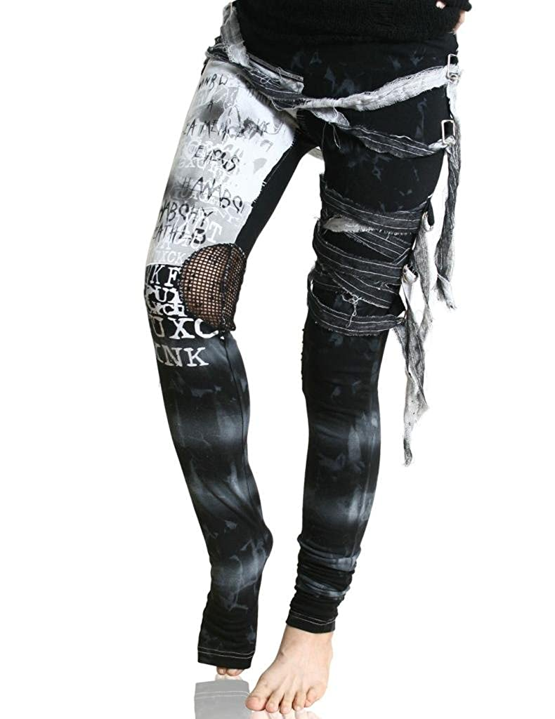 Refuse to be Usual womens Ultra long Tie Dye Gothic Punk Leggings