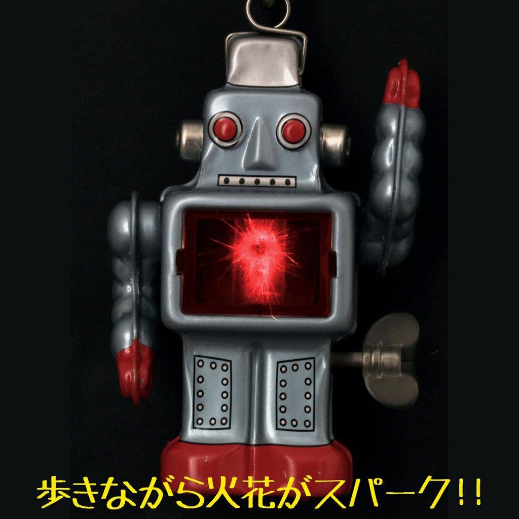 Burekiya Vintage Retro Tin Wind-up Toy - Two Sparkling Robot Set by Burekiya (Image #3)