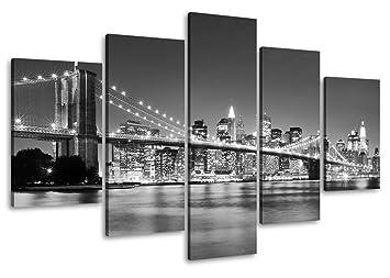 New York Leinwandbild ~ Amazon.de: bild auf leinwand 100 cm nr 6402 new york fertig gerahmte