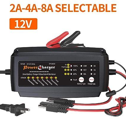 ULTRAPOWER - Cargador de batería de 12 V, 2 A, 4 A, 8 A ...