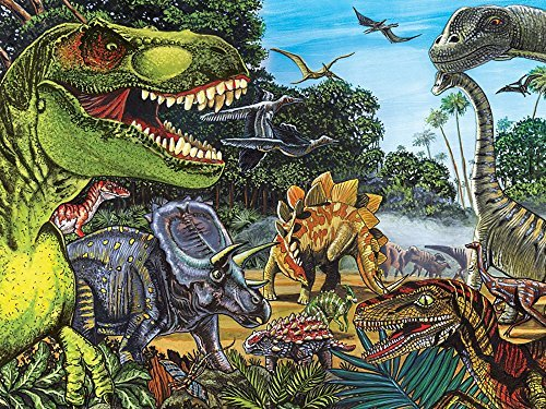 Cobble Hill Dinosaur Land Jigsaw Puzzle, 400-Piece Family Puzzle by Cobble Hill