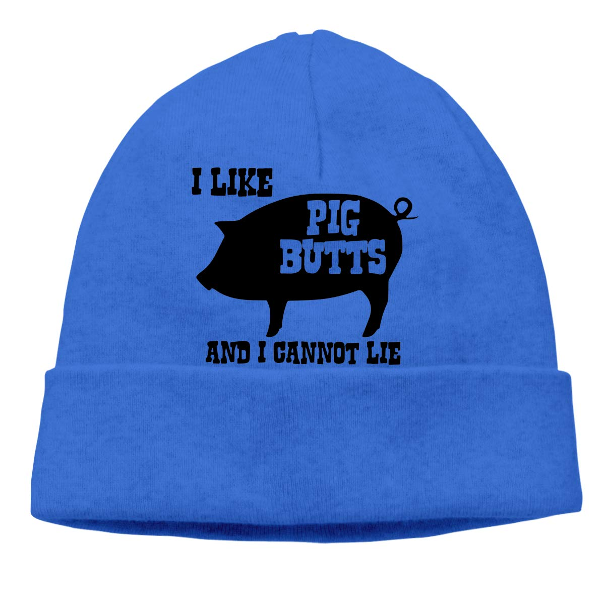 Mens and Womens I Like Pig Butts and I Cannot Lie Knitted Hat Cotton Skull Cap