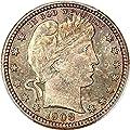 1908 D Barber Quarters Quarter MS67 PCGS+\CAC