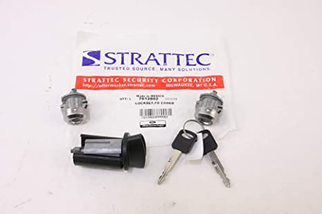 LC6177 Ford Ignition Switch Lock Cylinder 3 Door Lock Cylinder W//2 Logo Keys Three
