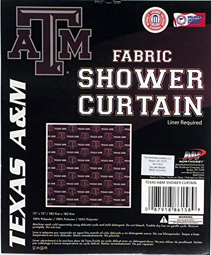 The Northwest Company Texas A&M Aggies NCAA Fabric Shower Curtain ()