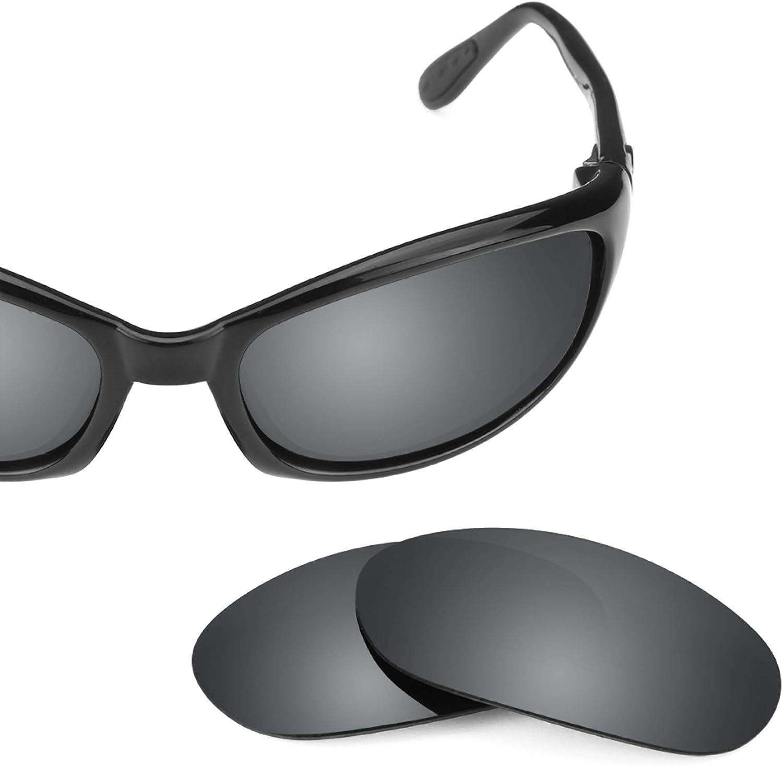Revant Verres de Rechange pour Costa Harpoon - Compatibles avec les Lunettes de Soleil Costa Harpoon Chromé Noir Mirrorshield - Non Polarisés
