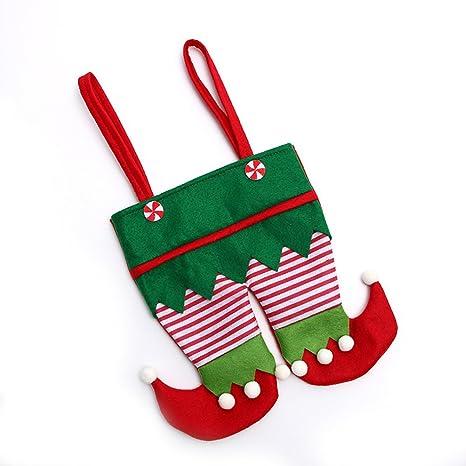 Youkara Bolsa Bolsa de Duende de Navidad Bolsa Caramelo ...