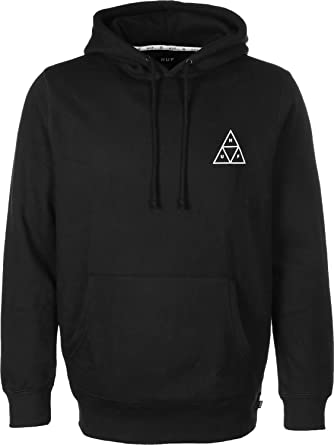 867555773c939 HUF Men Overwear/Hoodie Roses Triple Triangle Black M: Amazon.co.uk ...