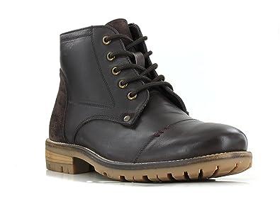 Boots Kickers Fanfarno Cuir Marron RKyAA