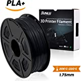SUNLU 3D Printer Filament PLA Plus Black, PLA Plus Filament 1.75 mm,Low Odor Dimensional Accuracy 0.02 mm, 3D Printing Filament,2.2 LBS (1 Kilogram) Spool for 3D Printers and 3D Pens, Black