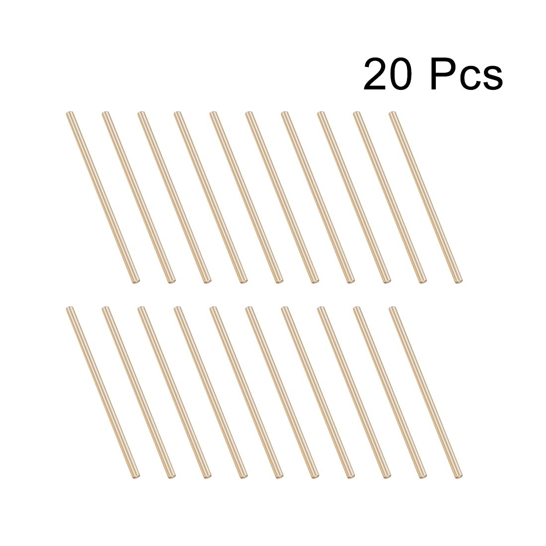 uxcell Brass Solid Round Rods Lathe Bar Stock for DIY Craft 50mmx2mm 20pcs