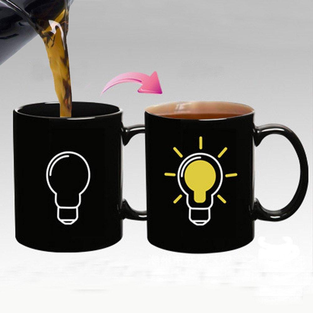 Giftgarden Magic Bulb Heat Sensitive Mugs Color Changing