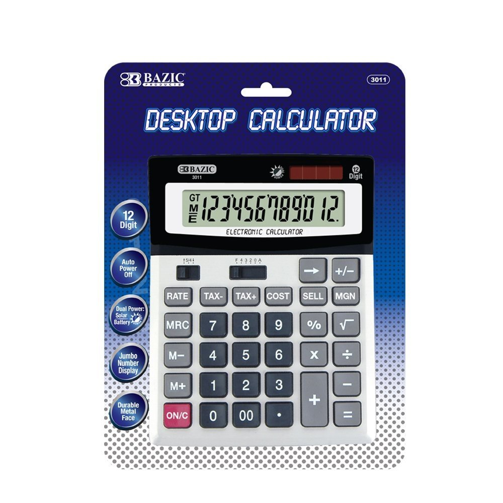 Digit Calculator, Office Desktop Calculator With Tax And Profit Functions