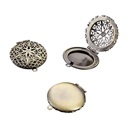 Amazon beadthoven 2pcs romantic photo brass diffuser locket beadthoven 2pcs romantic photo brass diffuser locket pendants aromatherapy locket necklace charms picture frame mozeypictures Images