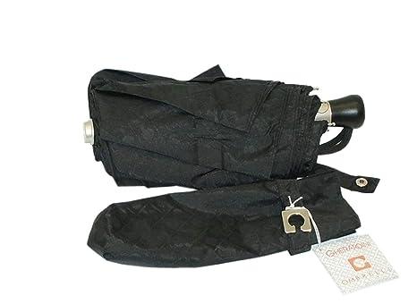 Paraguas Mini para Hombre y Mujer gherardini Automático Open Umbrella 4004 Negro